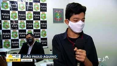 Estudante que sonha em ser delegado faz homenagem à Policia Civil - Saiba mais em: g1.com.br/ce