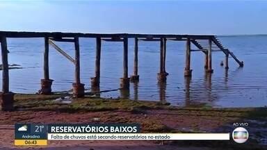 Reservatórios do interior paulista estão com níveis críticos - Falta de chuvas está secando reservatórios que abastecem cidades do estado.