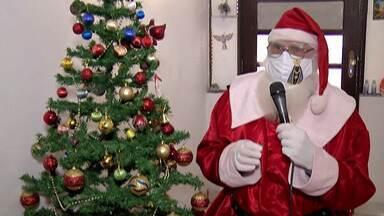 Em meio à pandemia, Papai Noel busca alternativas para continuar atendendo crianças - Expectativa é de que o bom velhinho trabalhe em home office neste ano.