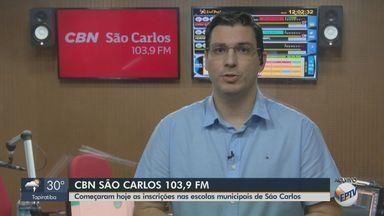 Inscrições nas escolas municipais de São Carlos começam nesta quinta-feira - Veja as informações com Flávio Mesquita, da CBN.
