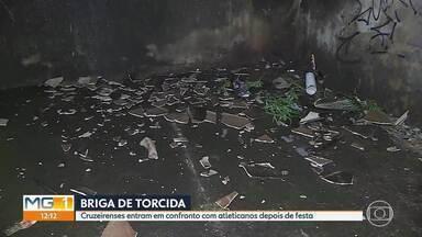 Duas pessoas vão para o hospital depois de briga entre torcedores - Cruzeirenses abordaram atleticanos depois de festa em Contagem.