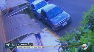 Internautas divulgam fotos de suspeito de feminicídio em Ribeirão Preto - Ex-marido da vítima é considerado foragido pela Justiça. EPTV1 fala sobre pistas e fotos nas redes sociais para achar suspeitos
