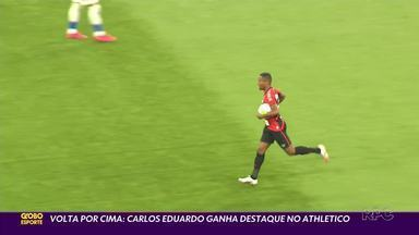 Carlos Eduardo 'renasce' no Athletico - Atacante vem se destacando nas últimas partidas do Furacão