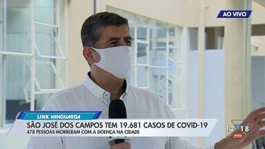 São José dos Campos tem 19.681 casos de Covid-19 - 478 pessoas morreram da doença na cidade.