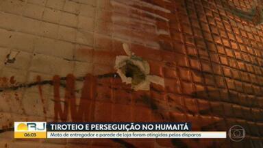 Policiais militares trocam tiros com bandidos no Humaitá, Zona Sul do Rio - Suspeitos de tentar assaltar lanchonete no bairro fugiram e houve perseguição.