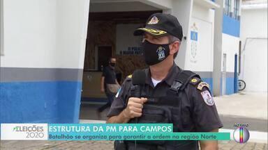 Comandante do batalhão de Campos, RJ, fala sobre esquema especial para as eleições - Efetivo será reforçado para garantir a segurança e coibir crimes nas ruas e nas seções eleitorais.