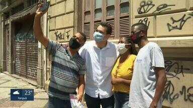 Paulo Messina (MDB) faz campanha no Centro na véspera das eleições - Paulo Messina (MDB) faz campanha no Centro na véspera das eleições.