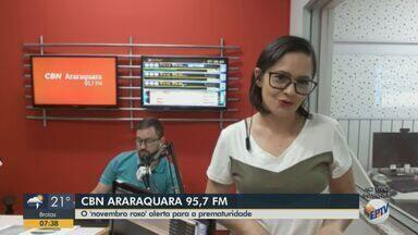 Maternidade Gota de Leite realiza 'Novembro Roxo' em Araraquara - Paula Cardoso, da CBN Araraquara, tem mais informações.