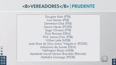 Confira os nomes que vão compor a Câmara Municipal de Presidente Prudente - Nove pessoas são novas no Poder Legislativo.