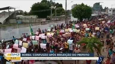 Em Borba, reeleição de prefeito gera confusão - Vídeos mostram aglomerações em carreata feita pela cidade.