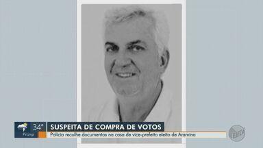 Promotoria Eleitoral cumpre mandados na casa de vice-prefeito eleito em Aramina, SP - Ex-vereador é suspeito de comprar votos nas eleições 2020