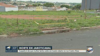 Mulher de 84 anos é encontrada morta dentro de bueiro em Jaboticabal, SP - Suspeita é que idosa tenha caído em boca de lobo aberta na Rua Castro Alves.