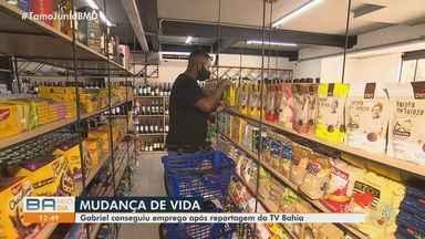 Jovem que foi preso após ser acusado de cometer crime consegue emprego em supermercado - Gabriel Silva estava enfrentando dificuldades para se recolocar no mercado de trabalho e fez um apelo no BMD.