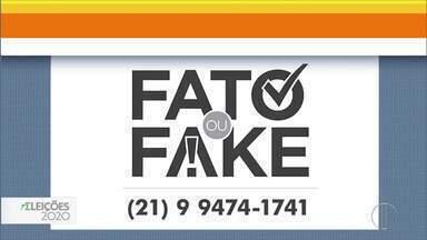 Número do Fato ou Fake continua para o 2º turno das Eleições 2020 - O número de WhatsApp para checagem de notícias é (21) 99474-1741.