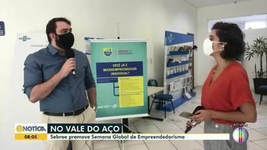 Sebrae Minas realiza Semana Global de Empreendedorismo no Vale do Aço - Evento promove oficinas e capacitações.