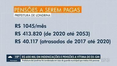 Prefeitura de Londrina é condenada a pagar R$ 600 mil entre indenizações e pensões - Quem vai receber são parentes de mulher morta por Guarda Municipal.