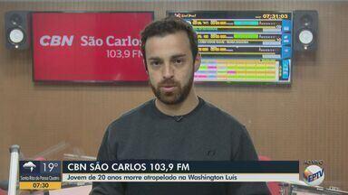 Motociclista de 20 anos é atropelado por caminhão na SP-310 em São Carlos - Eduardo Sotto Mayor, da CBN São Carlos, tem mais informações.