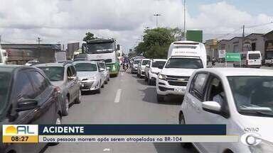 Duas pessoas morrem em um acidente na BR-104, em Alagoas - Vítimas morreram antes de receber atendimento médico.