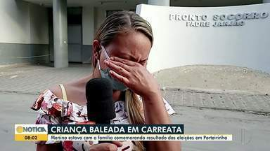 Criança baleada em carreata de eleições é internada em estado grave - O menino estava com a família comemorando o resultado das eleições em Porteirinha.