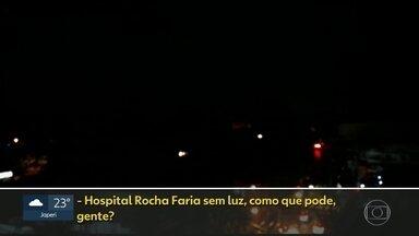 Pacientes do Rocha Faria relatam transtornos com falta de luz - Secretaria de saúde diz que interrupção de energia durou cerca de 40 minutos, que gerador foi acionado manualmente e problema não afetou atendimento.