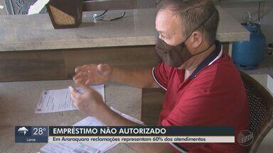 60% das reclamações do Procon em Araraquara são de empréstimos não autorizados - As pessoas que mais têm reclamado do problema são aposentados e pensionistas.