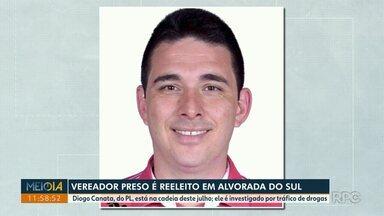 Vereador preso é reeleito em Alvorada do Sul - Diogo Canata, do PL, está na cadeia deste julho. Ele é investigado por tráfico de drogas.