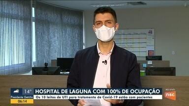 Hospital de Laguna está com 100% de ocupação - Hospital de Laguna está com 100% de ocupação