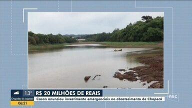 Casan anuncia investimento emergenciais no abastecimento de Chapecó - Casan anuncia investimento emergenciais no abastecimento de Chapecó
