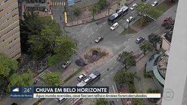 Chuva causa estragos em Belo Horizonte, avenidas e ruas ficaram inundadas - A forte chuva foi na noite de quarta-feira (18).