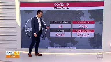 Minas passa de 390 mil casos de Covid-19 - Praticamente todas as regiões do estado apresentaram crescimento na média de mortes.