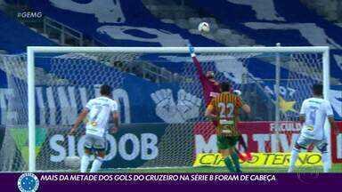 Mais da metade dos gols do Cruzeiro na Série B, foram de cabeça - Mais da metade dos gols do Cruzeiro na Série B, foram de cabeça