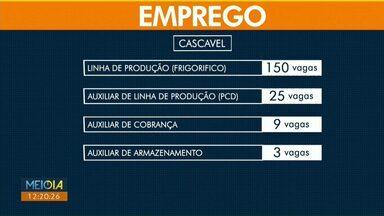 Frigorífico de Cascavel oferece mais de 170 vagas de emprego - As oportunidades são para auxiliar de linha de produção.