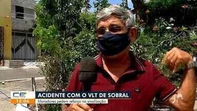 Moradores pedem reforço na sinalização após acidente com VLT em Sobral - Saiba mais no g1.com.br/ce