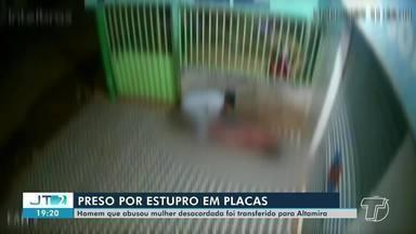 Idoso é flagrado por câmeras de segurança estuprando mulher com transtornos mentais no PA - Prisão preventiva foi homologada pela Justiça da comarca de Uruará, região sudoeste do Pará. O homem foi transferido para o presídio de Altamira.