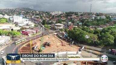 Drone do Bom Dia Minas: prefeitura fala de obras previstas para Avenida Vilarinho - Moradores esperam por obras há anos, para evitar tragédias em pontos conhecidos por alagamentos.