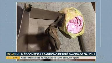 Mãe confessa abandono de bebê em Cidade Gaúcha - Criança foi deixada na rua, dentro de uma caixa, em agosto.