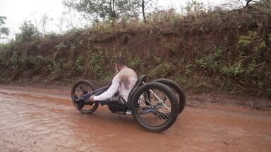 Fernando Fernandes encara chuva, subidas e muita aventura em uma travessia de mais de 700 km de Ouro Preto a Parati em bicicleta adaptada - Fernando Fernandes encara chuva, subidas e muita aventura em uma travessia de mais de 700 km de Ouro Preto a Parati em bicicleta adaptada