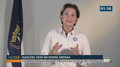 Meio-Dia Paraná entrevista Prof. Elizabeth (PSD), candidata à Prefeitura de Ponta Grossa - 2º turno da eleição municipal ocorre no domingo (29).