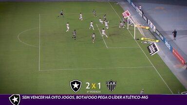 Sem vencer a oito jogos, Botafogo procura repetir resultado do primeiro turno contra o Atlético-MG - Sem vencer a oito jogos, Botafogo procura repetir resultado do primeiro turno contra o Atlético-MG