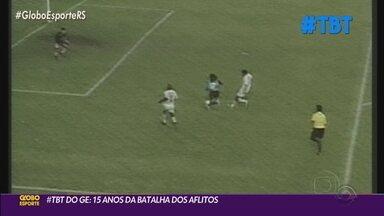 Após 15 anos da Batalha dos Aflitos, personagens relembram histórias daquele jogo - Nesta quinta-feira (26), completam 15 anos daquele jogo histórico do Grêmio.