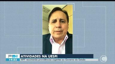 MPF recomenda providencias urgentes para retorno das aulas na Uespi ao Governo do Piauí - MPF recomenda providencias urgentes para retorno das aulas na Uespi ao Governo do Piauí