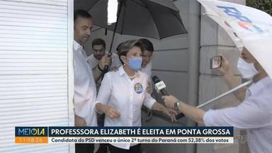 Professora Elizabeth é eleita prefeita de Ponta Grossa - Ela venceu com 52,38% dos votos.