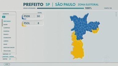 Bruno Covas, do PSDB, vence em 50 zonas eleitorais de São Paulo - Prefeito reeleito também obteve votação expressiva em regiões onde Boulos venceu