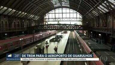 Volta a funcionar o expresso da Linha 13-Jade para Cumbica - Volta a funcionar o expresso da Linha 13-Jade para Cumbica.