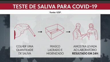 Novo teste da Covid-19 faz coleta através da saliva; resultado sai em 24 horas - O teste foi desenvolvido pela USP.