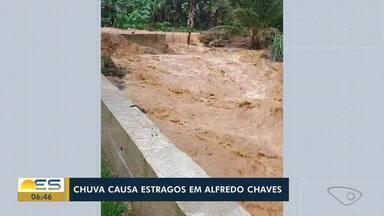 Chuva causa estragos em Alfredo Chaves, no Norte do ES - Assista.