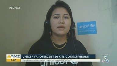 Iniciativa da UNICEF oferece kits de conectividade para estudantes que devem fazer o Enem - Cerca de 150 kits devem auxiliar estudantes.