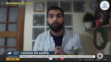 Prefeitura de Canoas suspende cirurgias eletivas e aumenta número de leitos de UTI Covid - Assista ao vídeo.