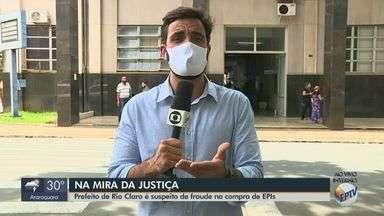 Prefeito de Rio Claro é suspeito de fraude na compra de EPIs - Investigação da Procuradoria-Geral de Justiça apura irregularidades.