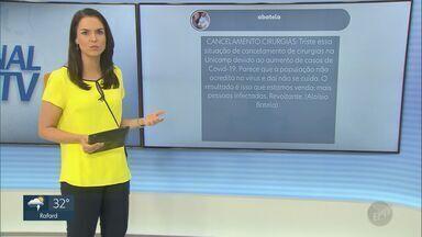 Telespectadores enviam mensagens ao EPTV 1 - Participação no programa pode ser feita através da #EPTV1, no Twitter.